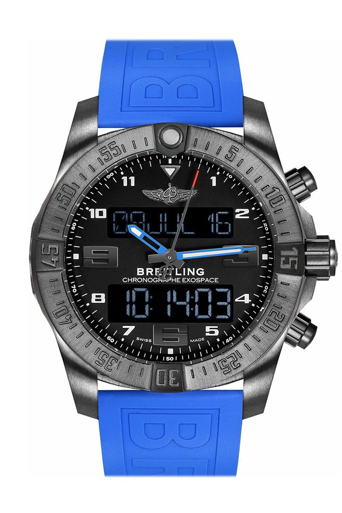 Breitling Exospace B55 Blue Rubber Men's Watch VB5510H2-BE45