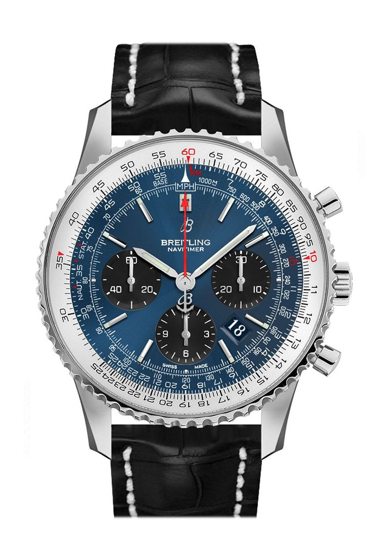 BREITLING Navitimer 1 Chronograph Automatic Chronometer Blue Dial Men's Watch AB0121211 C1P1