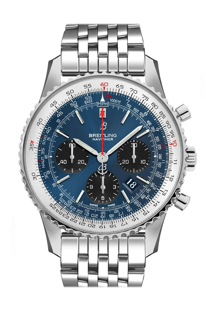 BREITLING Navitimer 1 Chronograph Automatic Chronometer Blue Dial Men's Watch AB0121211  C1A1