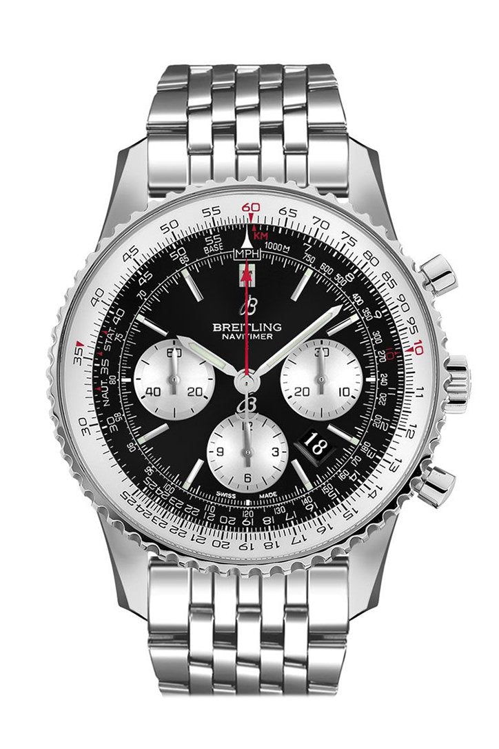 BREITLING Navitimer 1 Chronograph Automatic Chronometer Black Dial Men's Watch AB0127211  B1A1