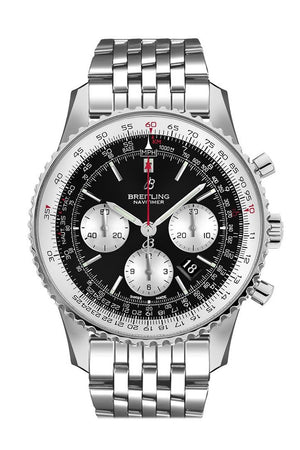 Breitling Navitimer 1 Chronograph Automatic Chronometer Black Dial Mens Watch Ab0127211 B1A1