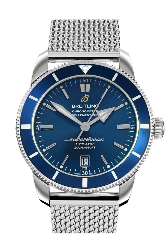 Breitling Superocean Heritage Ii Automatic Chronometer Blue Dial Mens Watch Ab2010161 C1A1