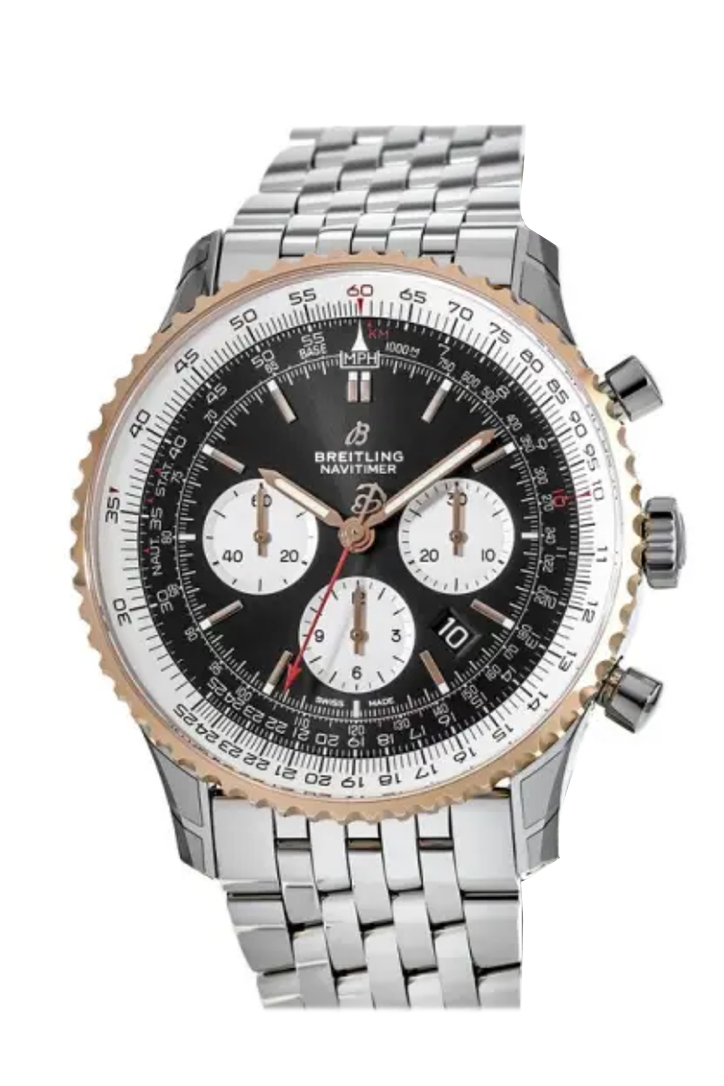 Breitling Navitimer World Black Leather Tang A2432212  B1X1