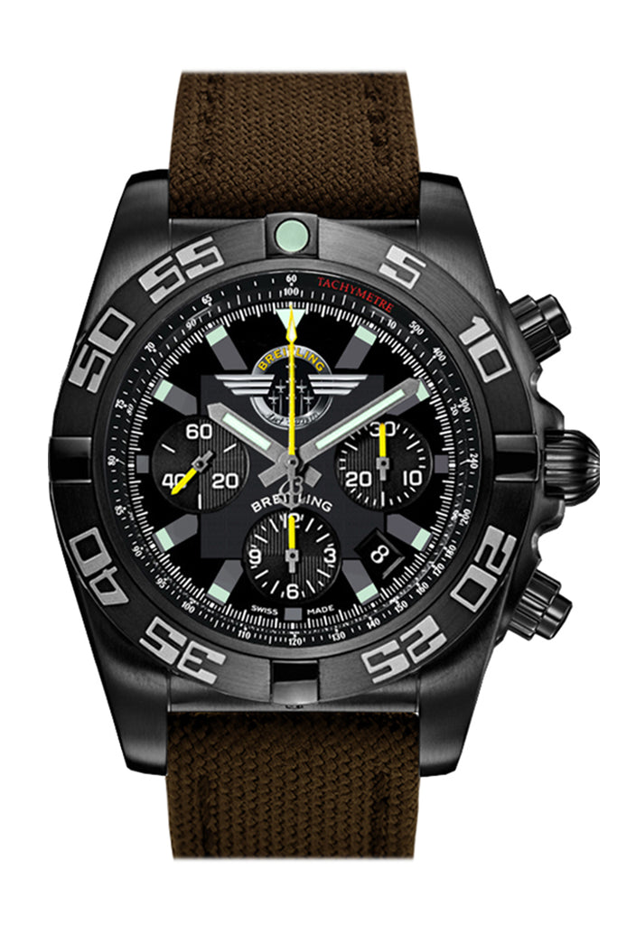 Breitling Chronomat 44mm Black Canvas MB01109L BD48