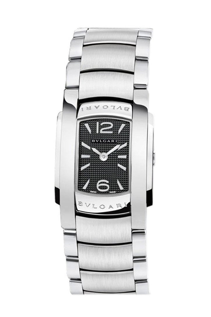Bvlgari Assioma D Black Dial Stainless Steel Ladies Watch 101546 Eg40C6Ssd