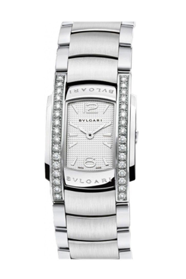 Bulgari Assioma Silver Dial Stainless Steel Ladies Watch Aa35C6Sds White