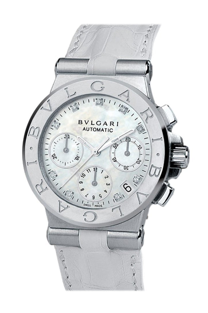 Bulgari Diagono Mother Of Pearl Dial Automatic Ladies Watch101643 DG35WSLDCH