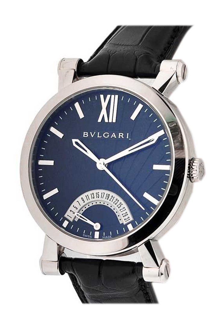 Bulgari Black Dial Sotirio Series Retrograde Date 101706 Sb42Bsldr Watch