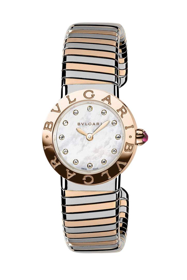 Bvlgari Quartz 26mm Ladies Watch with Tubogas Bracelet BBL262TWSPG/12.M