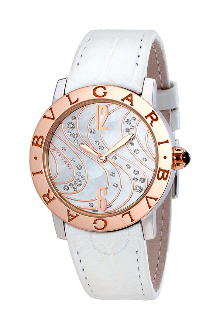 Bvlgari White Mother-of-Pearl with Diamonds Dial Automatic Ladies Watch BBL33WCDSPGL