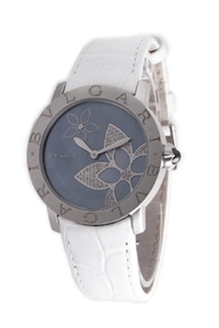 Bvlgari Blue Mother of Pearl Decorative diamond Flower Design Ladies Watch BBL37FDSL