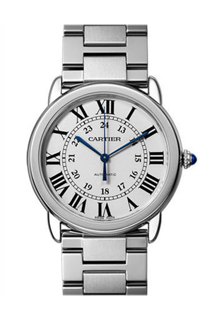 Cartier Ronde Solo Silver Opaline Automatic Ladies Watch WSRN0012