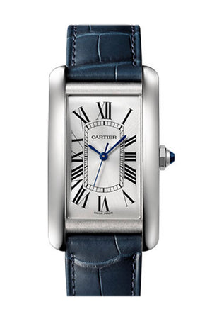 Cartier Tank Americaine Automatic Silver Dial Men's Watch WSTA0018