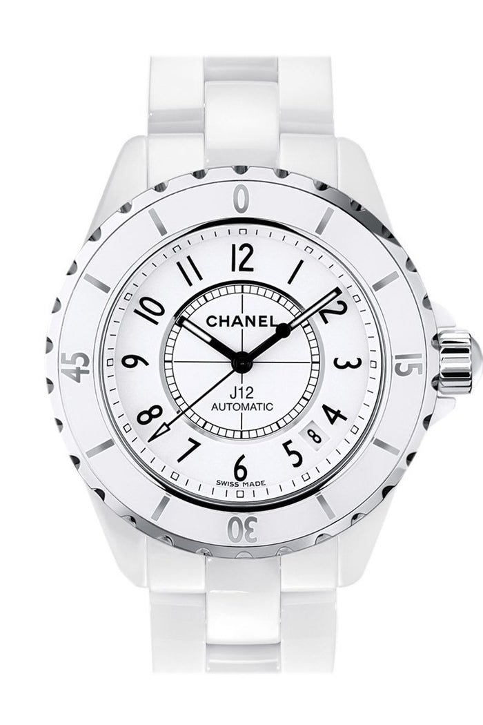 Chanel J12 White Automatic White Dial White Ceramic Watch H0970