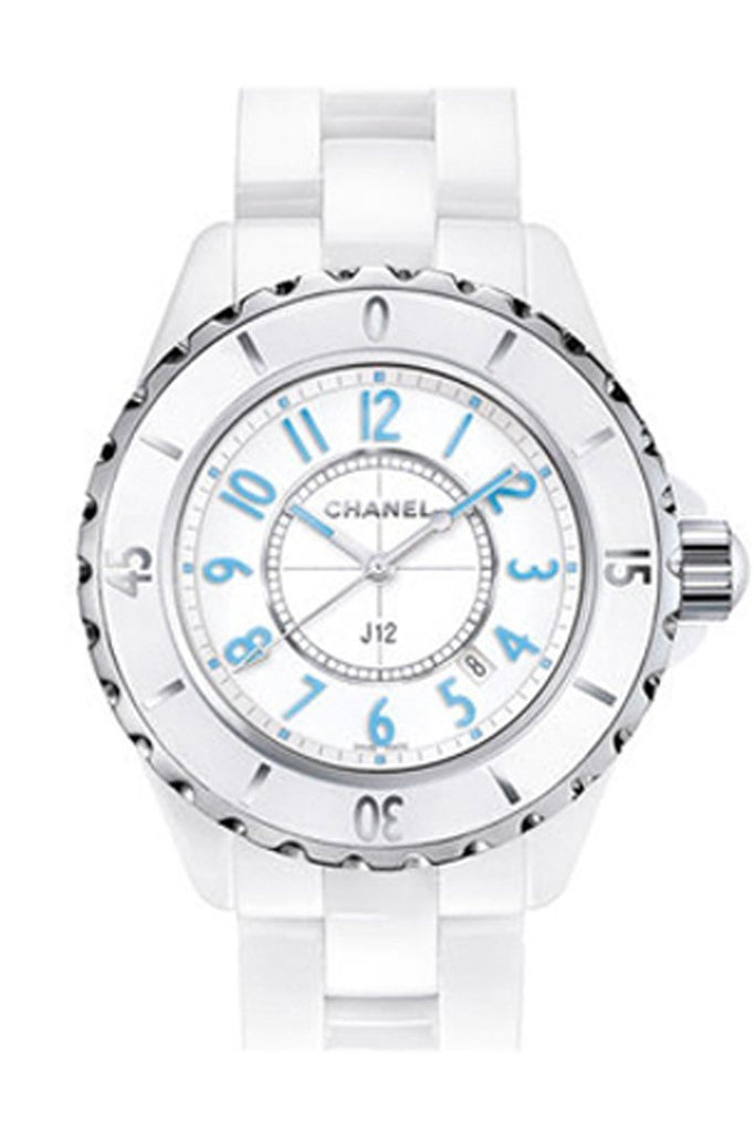 Chanel J12 White Dial Ceramic Ladies Watch H3826