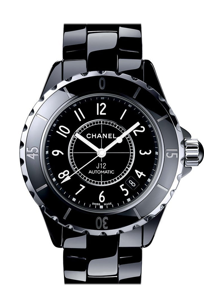 Chanel J12 Black Ceramic Automatic Midsize Watch H0685