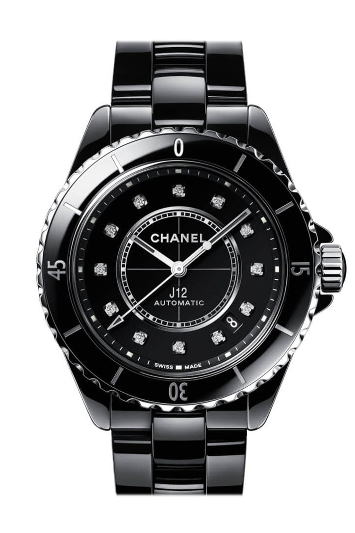 Chanel J12 Diamond White Ceramic Midsize Unisex Watch H1629