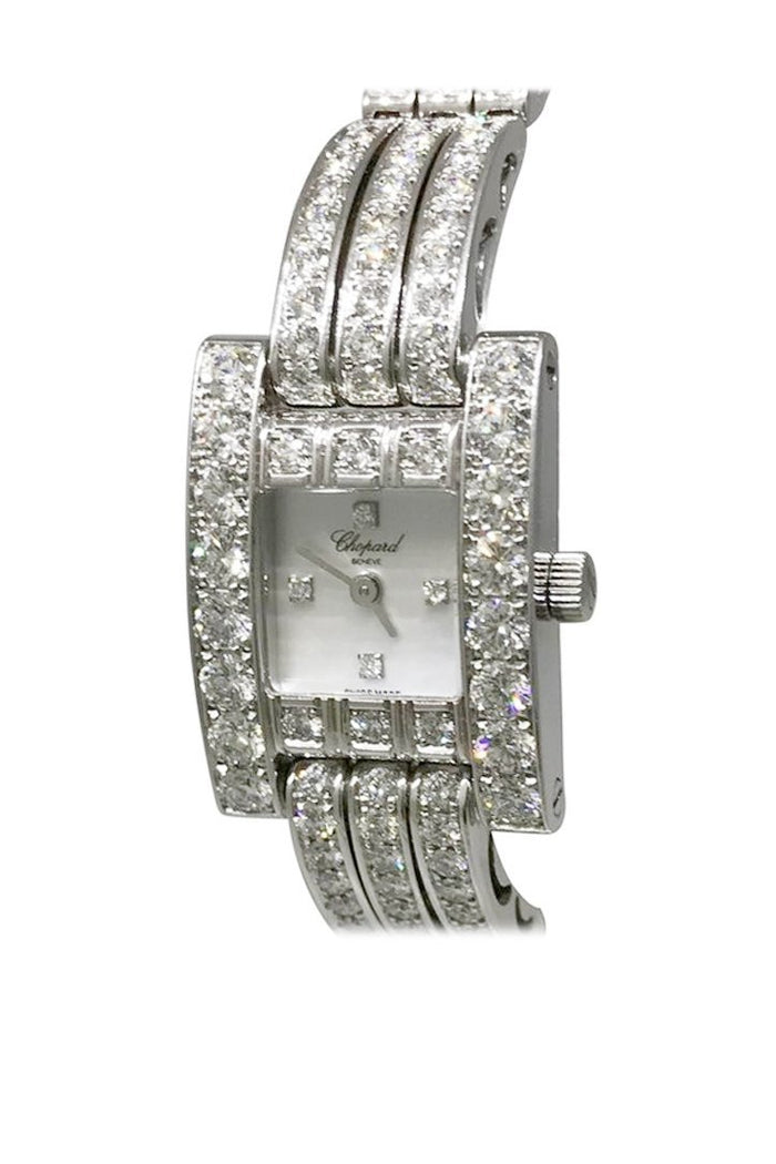 Chopard H Watch Diamond Ladies Watch 106966-1001