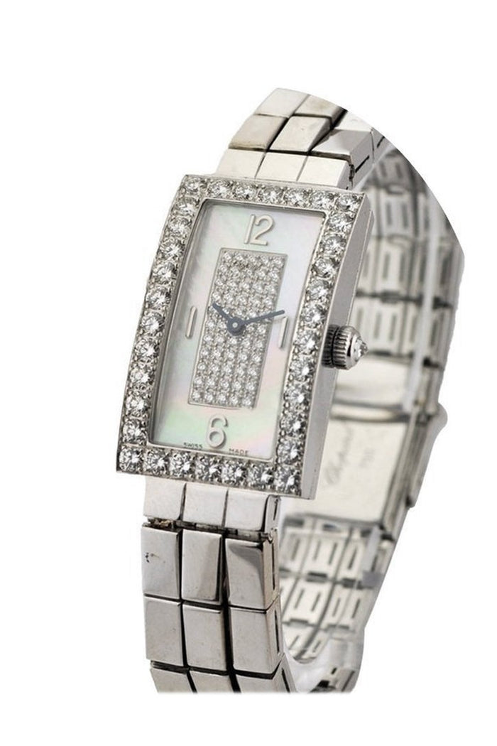 Chopard Classique Rectangle WG with Diamond Bezel 10-7018/8-20