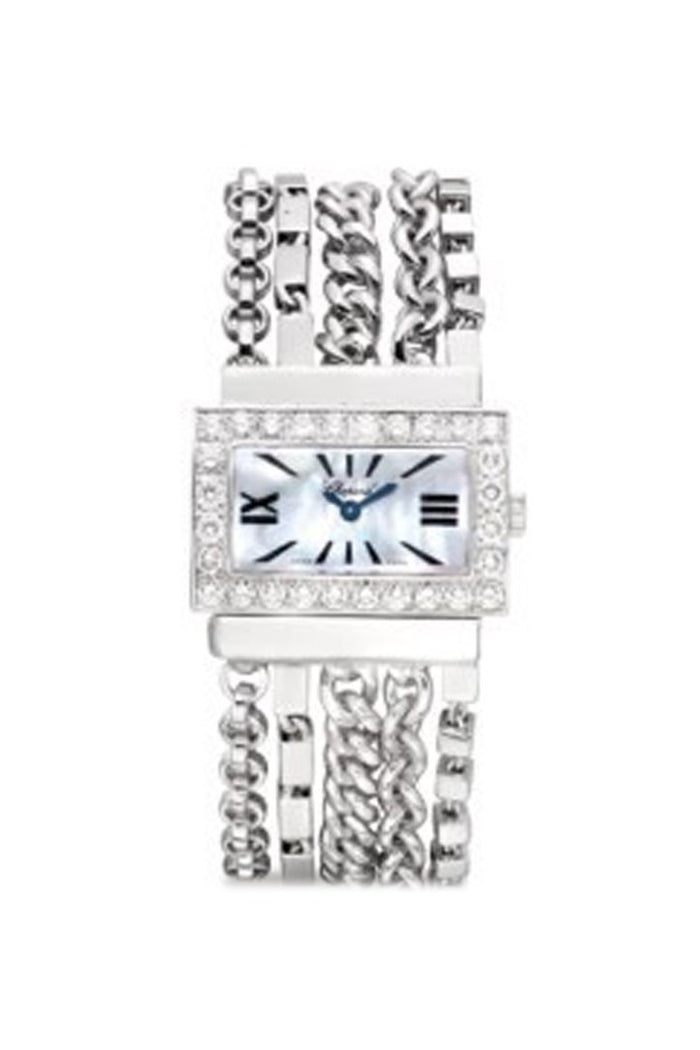 Chopard Diamond White Mother of Pearl Dial Ladies Watch 109044-1001