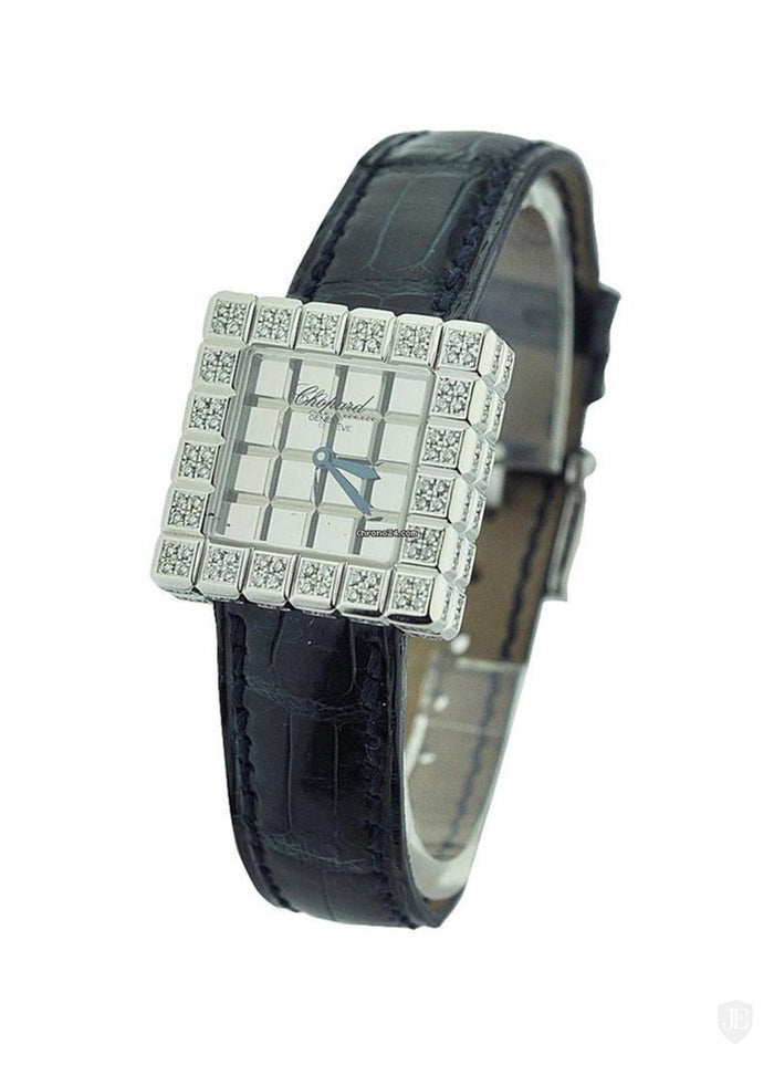 Chopard Ice Cube Mirror Dial Square Ladies Quartz Watch 136815-1001