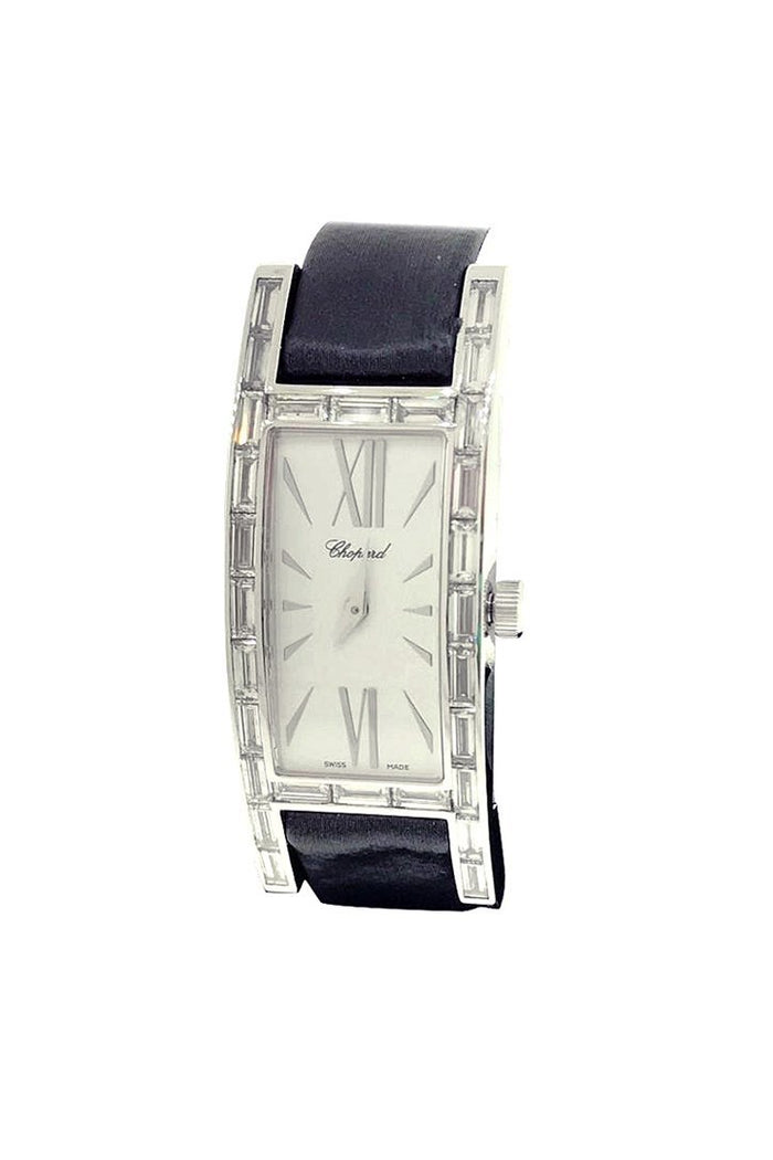 Chopard White Gold H Watch with Baguette Diamond Bezel 137217-1001