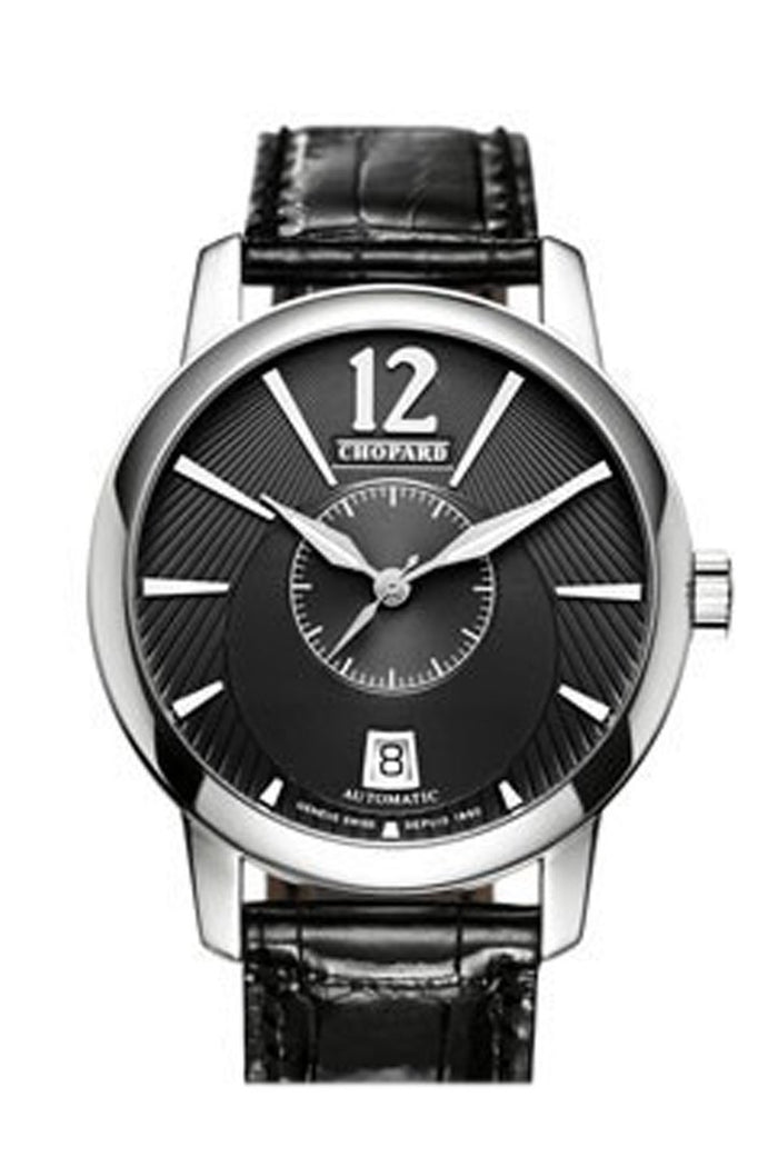 Chopard L.U.C. Classic Twin Automatic Black Dial Men's Watch 161880-1001