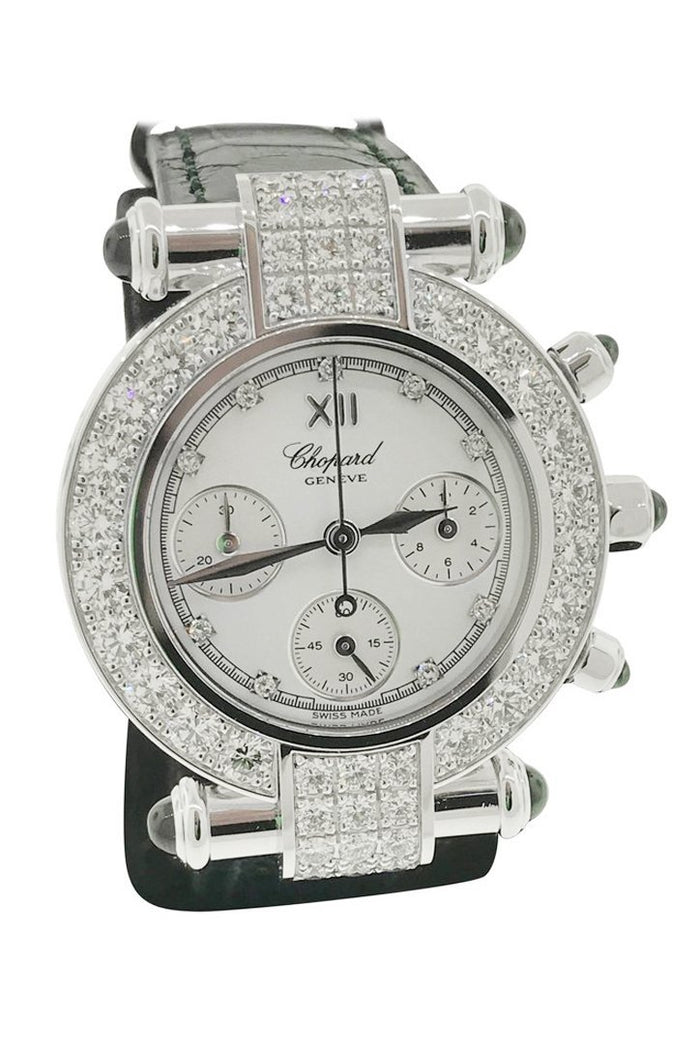 Chopard Imperiale White Gold & Diamond Chronograph Ladies Watch 383168-1025