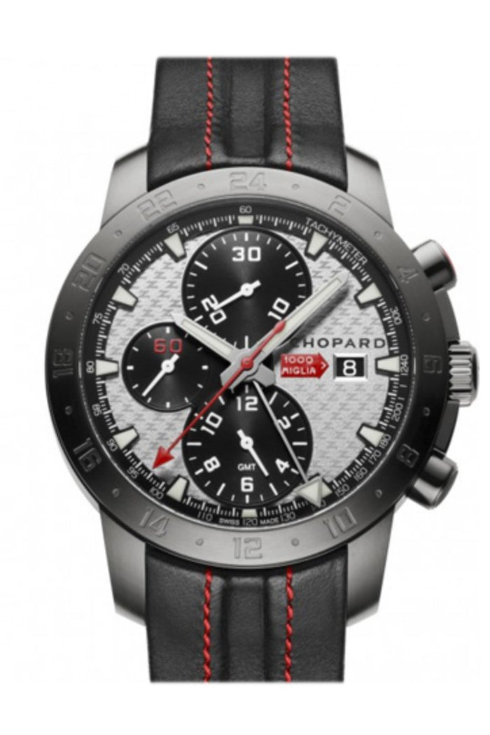 Chopard Mille Miglia Zagato Black Leather Black Dial 168550-3004