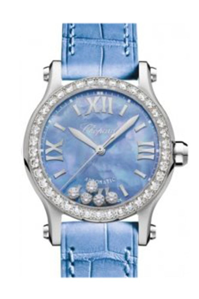 Chopard Happy Sport Automatic Stain Steel With Diamond Bezel Blue Dial 278573-3010 Watch