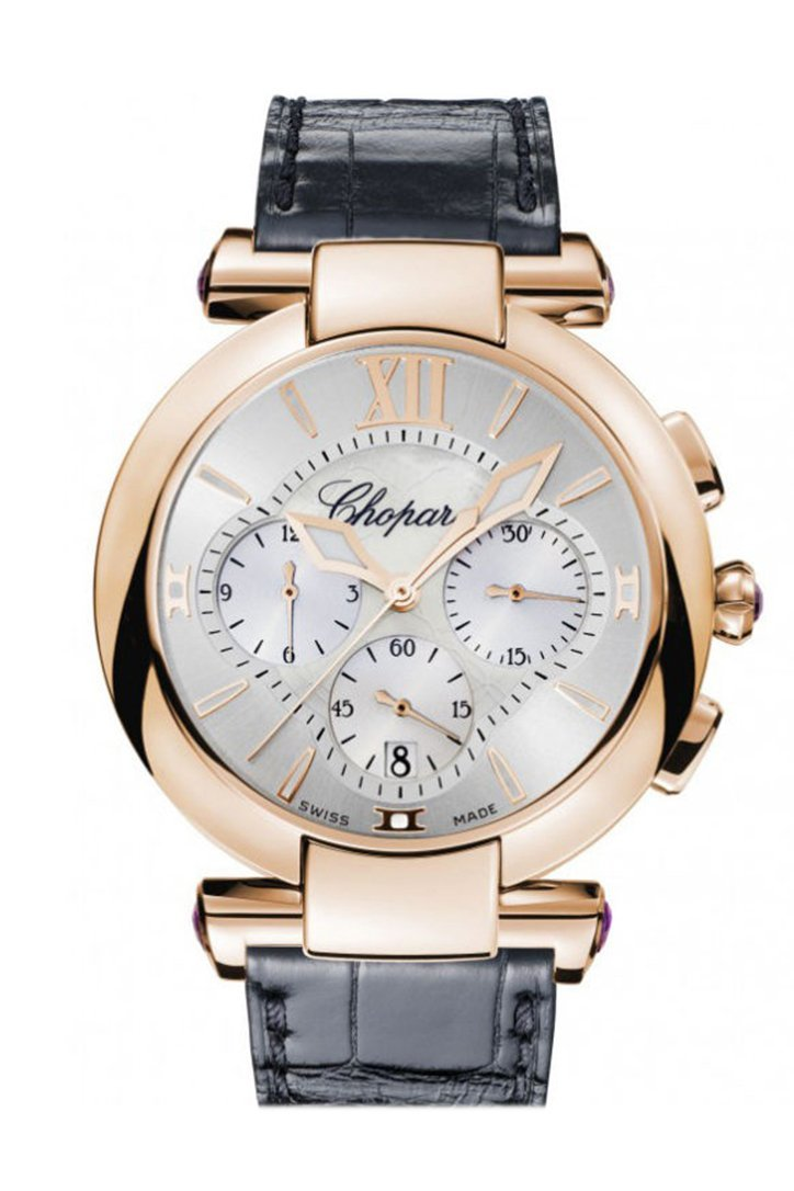 Chopard Imperiale Rose Gold Chrono Silver Dial 384211/5001