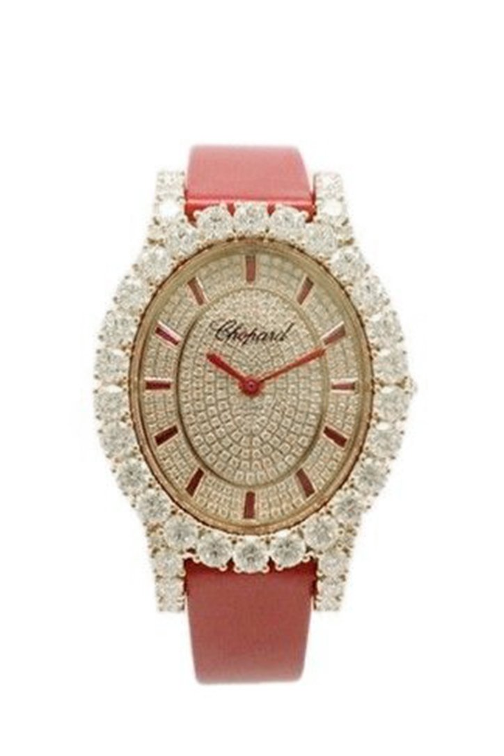 Chopard L'Heure Du Diamant Diamond Dial Red Croc 139383-5035