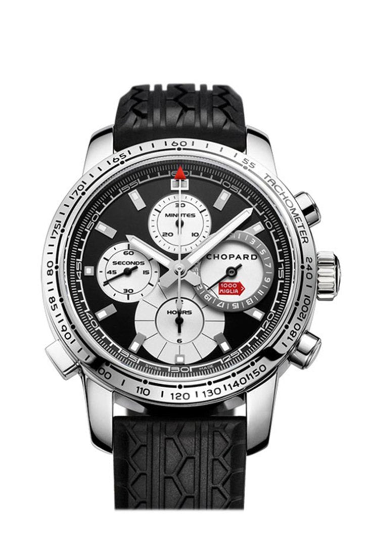 Chopard Mille Miglia Black Dial Black Rubber Men's Watch 168995/3002
