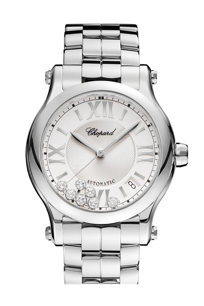 Chopard Happy Sport Automatic Silver Dial Ladies Watch 278559/3002