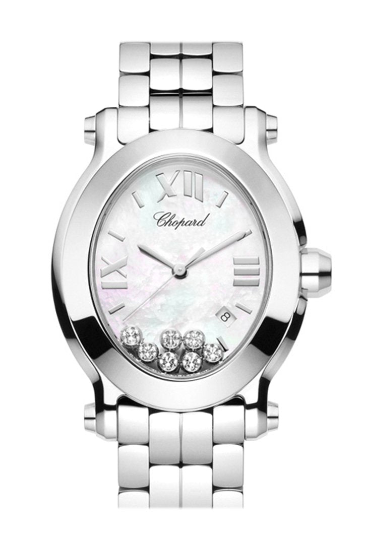 Chopard Happy Sport Oval Quartz Ladies Watch 278546-3003