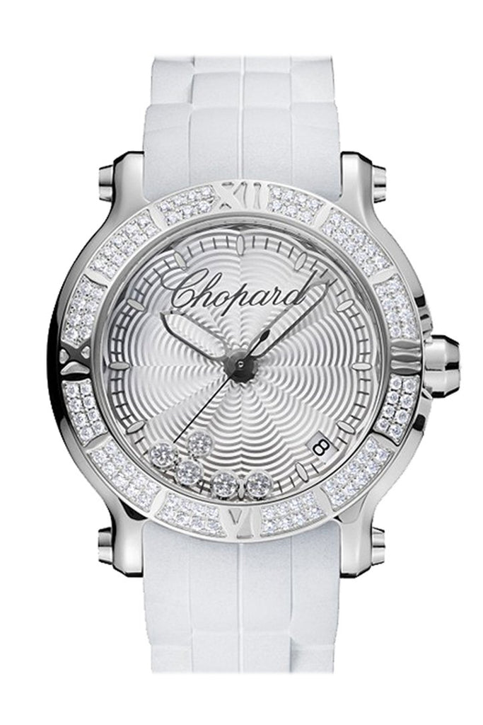 Chopard Happy Sport Round Quartz 36Mm Ladies Watch 278551-3003