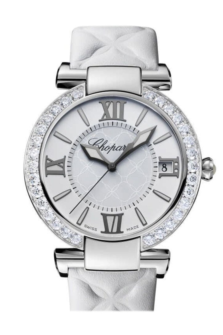 Chopard Imperiale Automatic Mother Of Pearl Diamond Leather Strap Womens Watch 388531-3008
