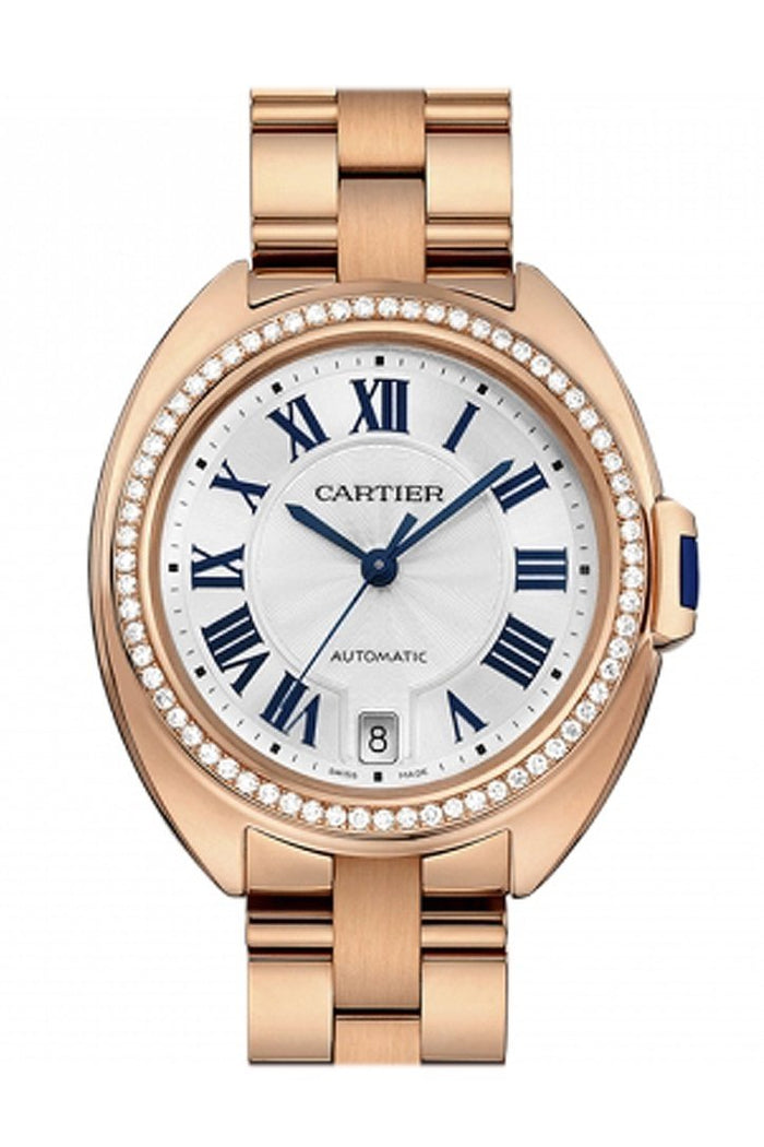 Cartier Cle 35 Flinque Sunray Effect Dial Ladies Watch WJCL0006