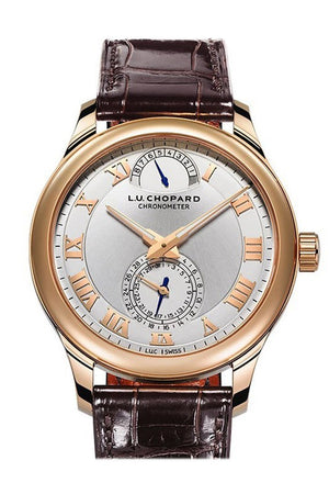Chopard L.u.c. Quattro Mk. Ii 43Mm 18K Rose Gold Gold Mens Watch 161926-5001 Silver / None