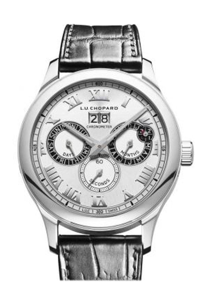 Chopard L.u.c Perpetual Twin 43Mm Stainless Steel Mens Watch 168561-3001 Silver / None