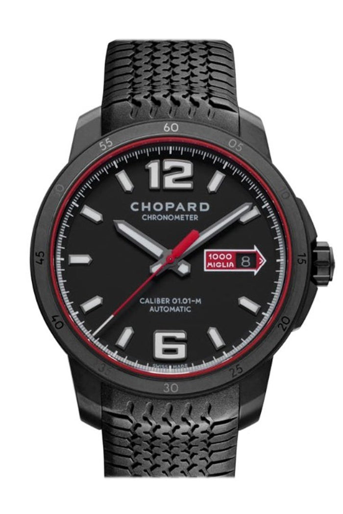 Chopard Mille Miglia GTS 43mm Automatic Speed Black Dlc Blackened Stainless Steel Limited Edition watch 168565-3002