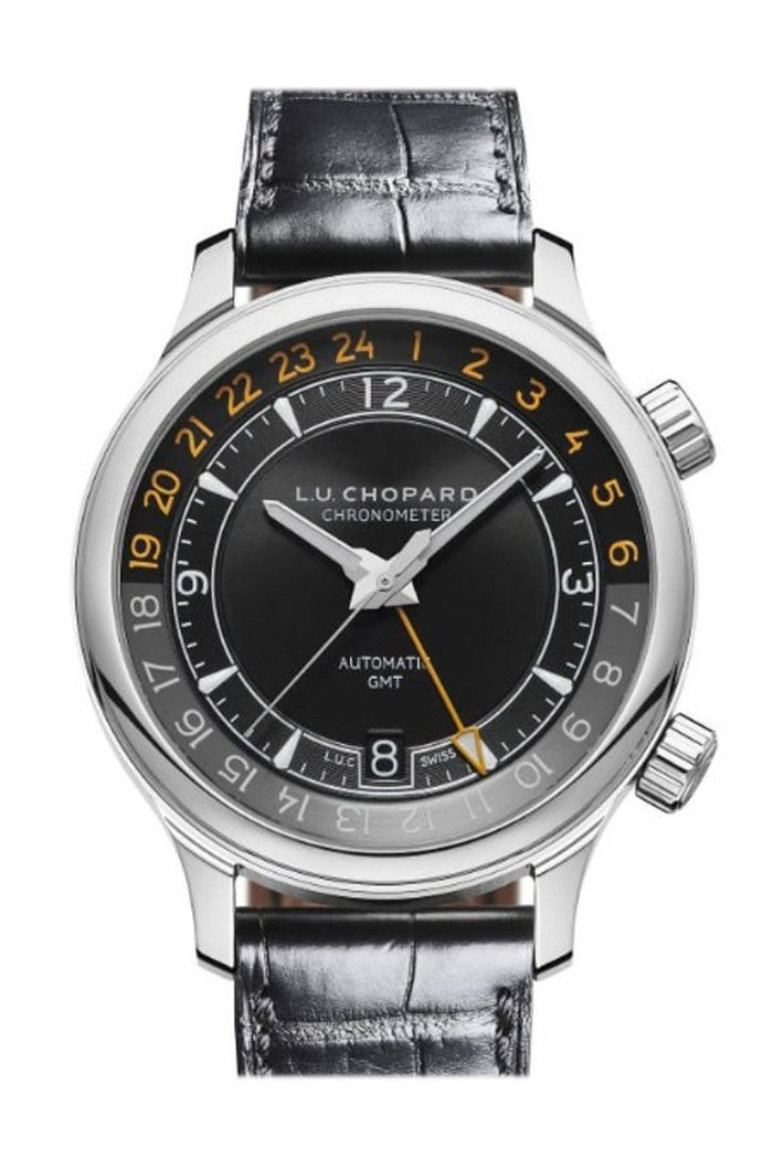 Chopard L.U.C GMT One 42mm Stainless Steel Watch 168579-3001