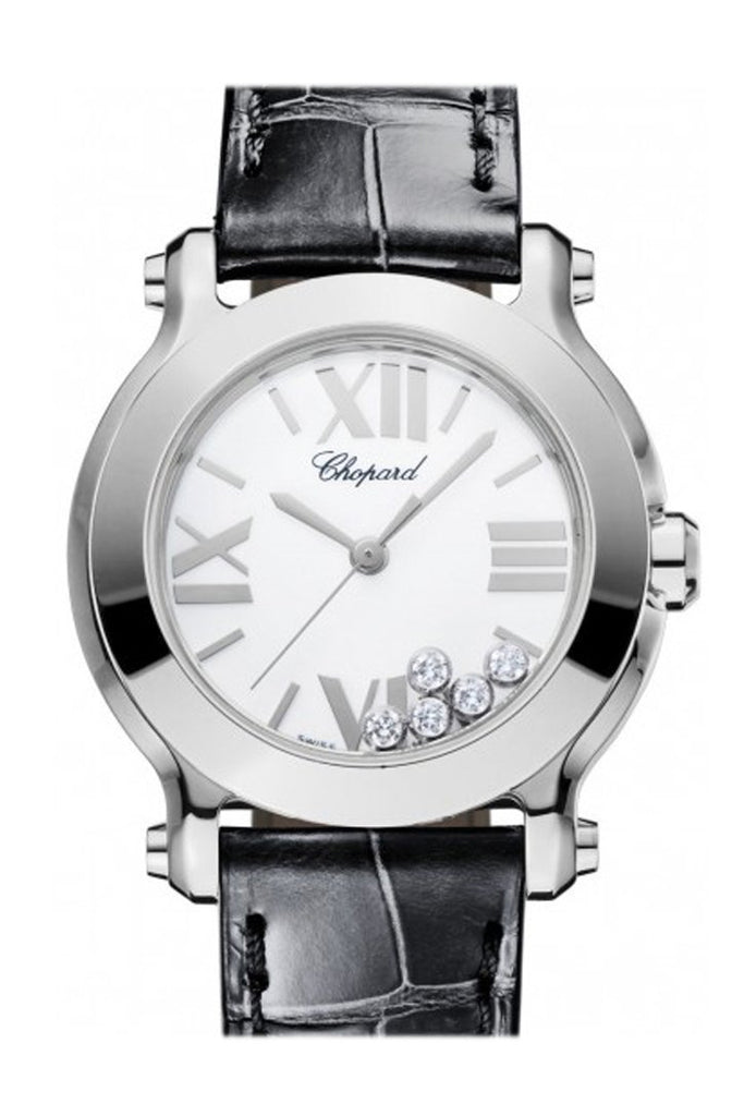 Chopard Happy Sport Ii 30Mm Round White Diamond Dial Ladies Watch 278509-3001 / None