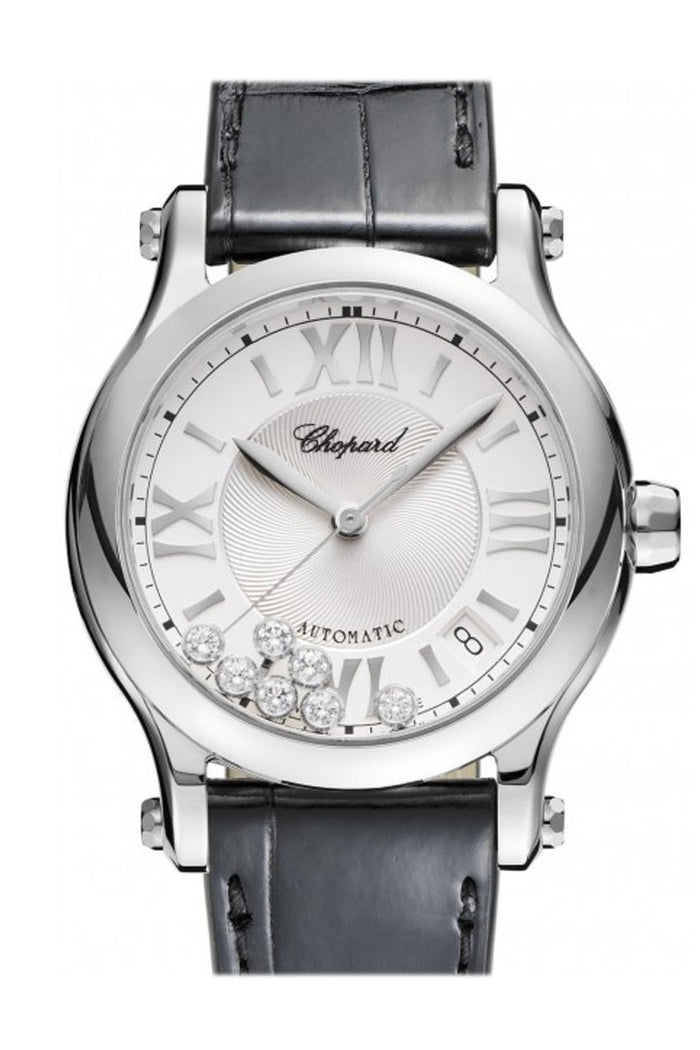 Chopard Happy Sport 36mm Automatic Stainless Steel and Diamonds Watch 278559-3001