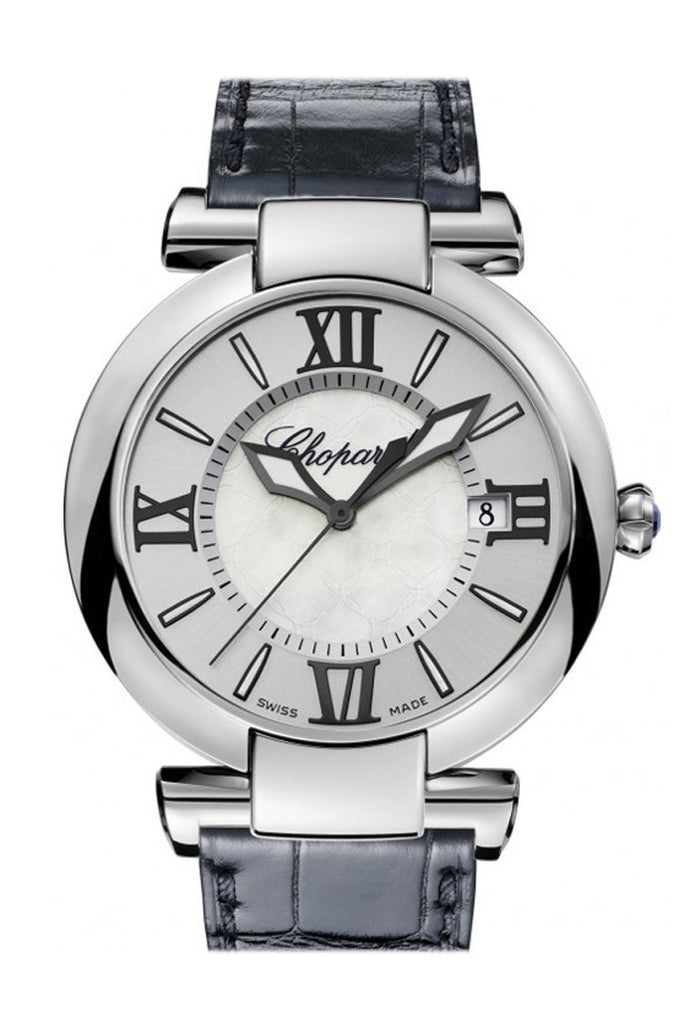 Chopard Imperiale 40Mm Silver Tone Mother Of Pearl Dial Mens Watch 388531-3009