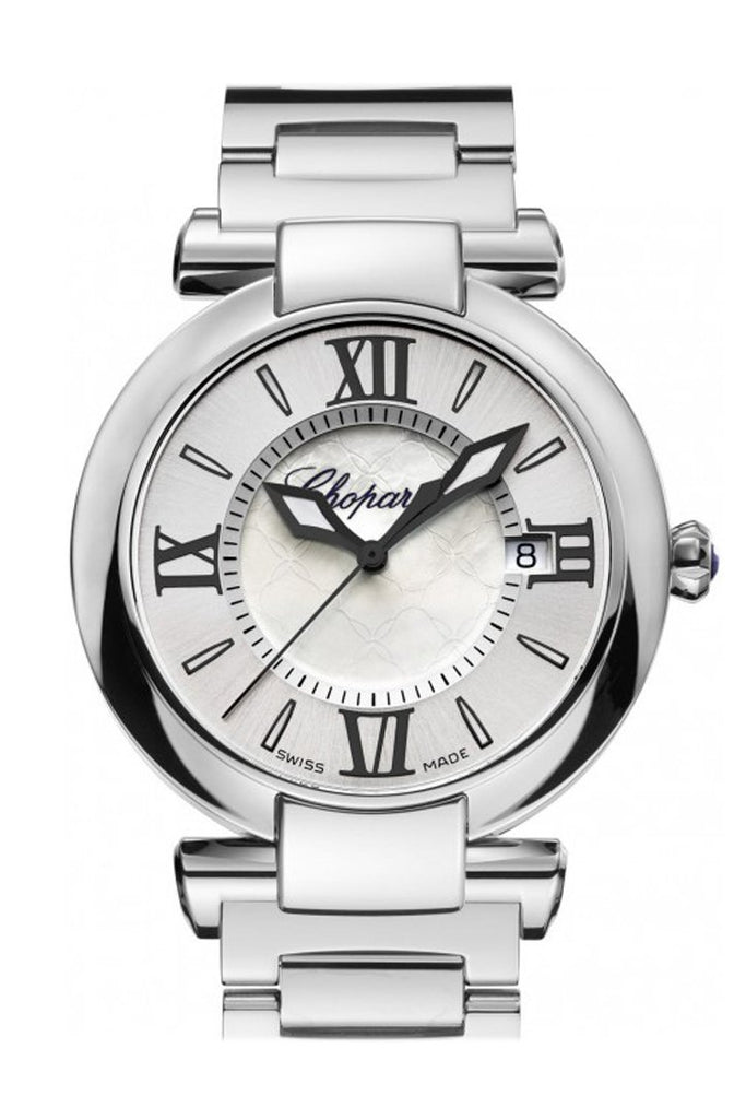 Chopard Imperiale 36Mm Stainless Steel And Amethyst Watch 388532-3002 Pearl