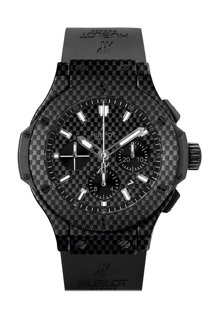 Hublot Big Bang 44mm Black Carbon Fiber Dial Automatic Chronograph Men's Watch 301.QX.1724.RX