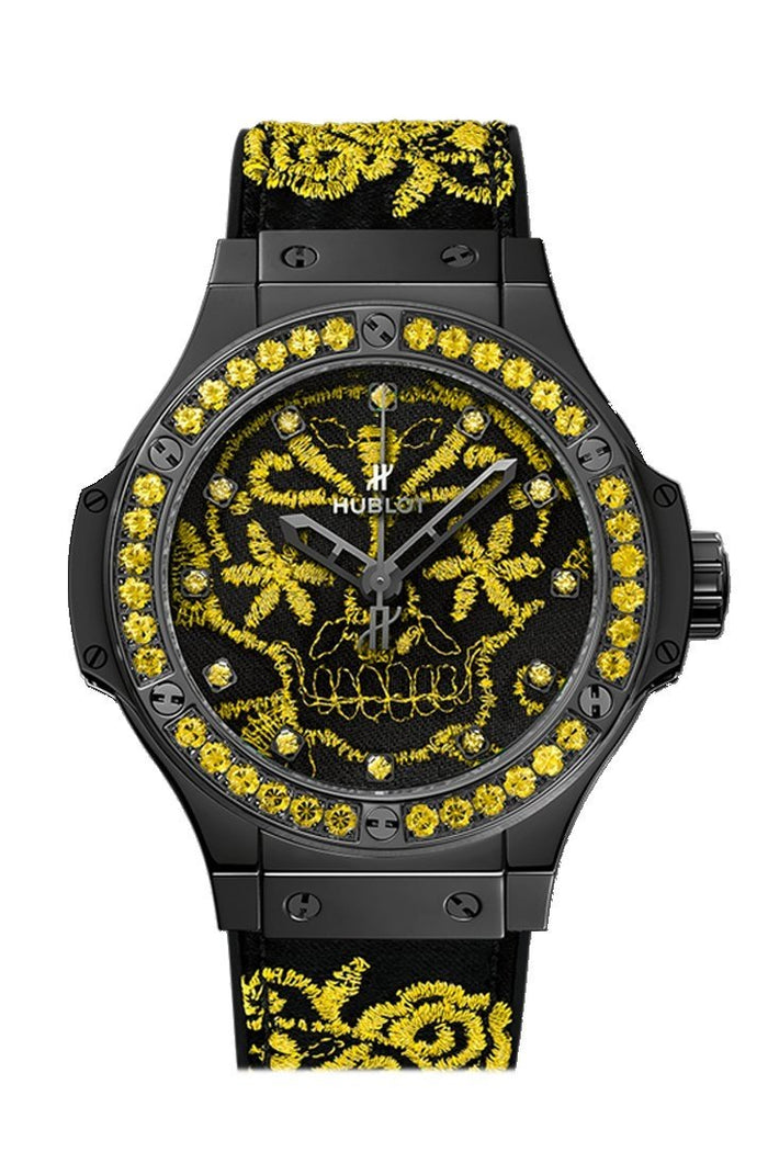 Hublot Big Bang 41mm Broderie Sugar Skull Fluo Sunflower Watch 343.CY.6590.NR.1211