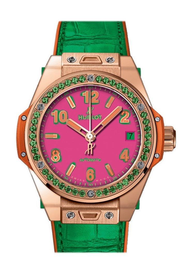 Hubolt Big Bang 39mm Pop Art Automatic Ladies Watch 465.OG.7398.LR.1222.POP16