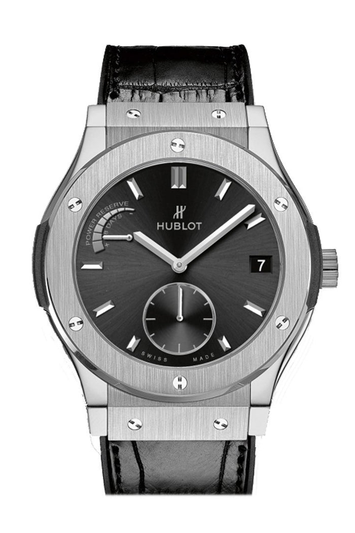 Hublot Classic Fusion 45mm  Black Sunray Dial Titanium Men's Watch 516.NX.1470.LR.1104
